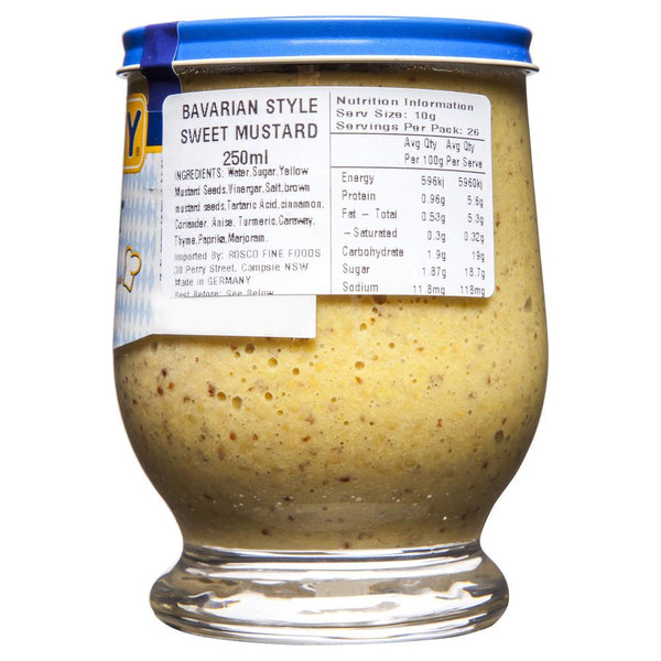 Thomy Bavarian Style Sweet Mustard 250mL , Grocery-Condiments - HFM, Harris Farm Markets  - 2