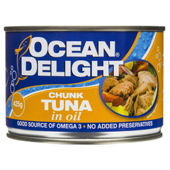 Ocean Delight Chunk Tuna Oil 425g , Grocery-Can or Jar - HFM, Harris Farm Markets  - 1