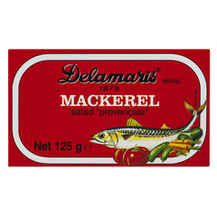 Delamaris Mackerel Salad Provencale 125g , Grocery-Can or Jar - HFM, Harris Farm Markets  - 1