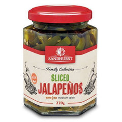 Sandhurst - Jalapeno Chillies - Spicy Sliced (270g)