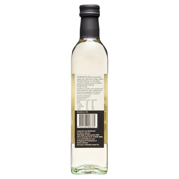 Simon Johnson White Balsamic Vinegar 500ml , Grocery-Oils - HFM, Harris Farm Markets  - 2