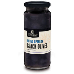 Sandhurst Pitted Black Olives 350g