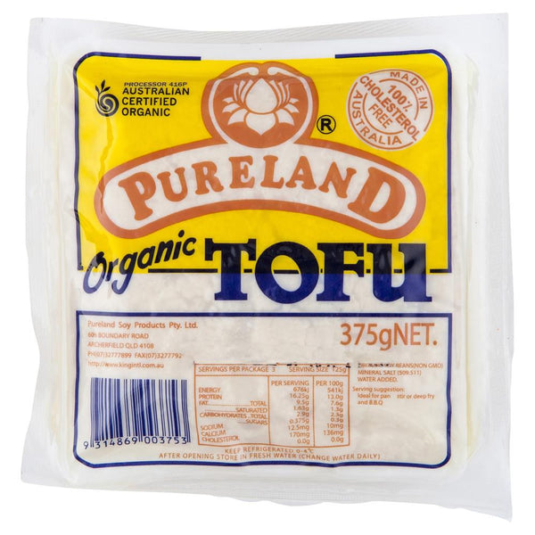 Pureland Organic Tofu 375g , Frdg3-Asian - HFM, Harris Farm Markets  - 1