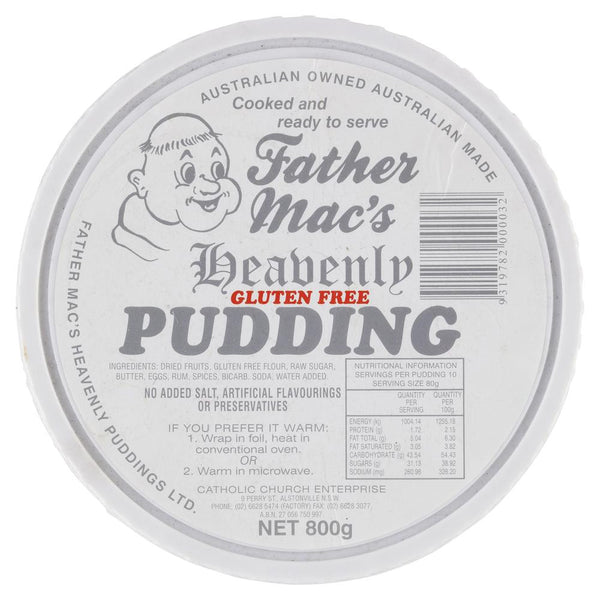 Father Macs Pudding Gluten Free 800g , Z-Bakery - HFM, Harris Farm Markets  - 1