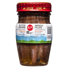 Alpi Anchovies Chilli 80g , Grocery-Can or Jar - HFM, Harris Farm Markets  - 1