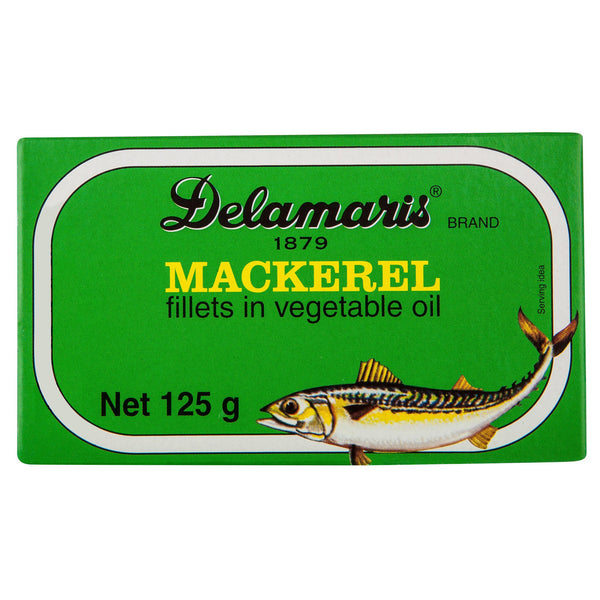 Delamaris Mackarel Fillet 125g , Grocery-Can or Jar - HFM, Harris Farm Markets  - 1