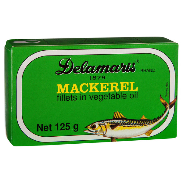 Delamaris Mackarel Fillet 125g , Grocery-Can or Jar - HFM, Harris Farm Markets  - 2
