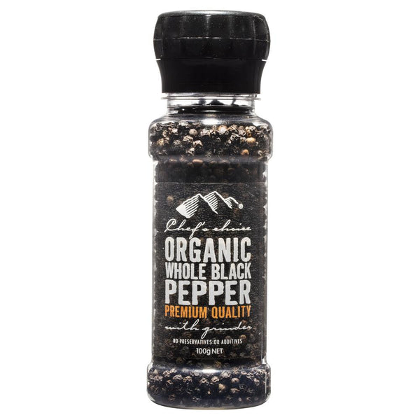 Chefs Choice Ground Organic Black Pepper 100g , Grocery-Cooking - HFM, Harris Farm Markets  - 1