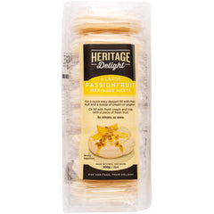 Heritage Delight - Meringue Nests - Passion Fruit (8 Large, 100g)