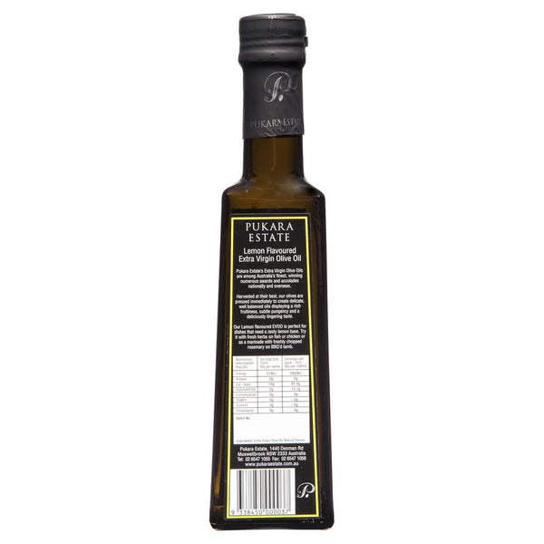 Pukara Lemon Extra Virgin Olive Oil 250ml , Grocery-Condiments - HFM, Harris Farm Markets  - 2