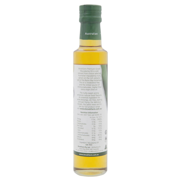 Brookfarm Natural Macadamia Oil 250ml , Grocery-Condiments - HFM, Harris Farm Markets  - 2
