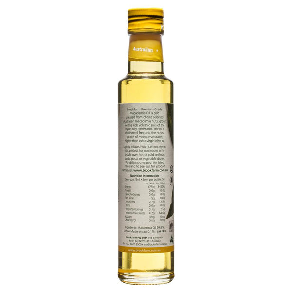 Brookfarm Macadamia Oil Infused Lemon Myrtle 250ml , Grocery-Oils - HFM, Harris Farm Markets  - 2