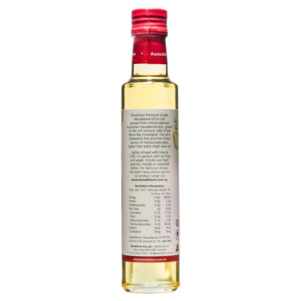 Brookfarm Macadamia Oil Infused Lime Chilli 250ml , Grocery-Oils - HFM, Harris Farm Markets  - 2