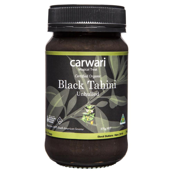 Carwari Black Tahini Unhulled 375g , Grocery-Cooking - HFM, Harris Farm Markets  - 1