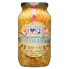 Peace Love & Vegetables Super Kraut Kim-Chi 680g , Grocery-Can or Jar - HFM, Harris Farm Markets  - 1