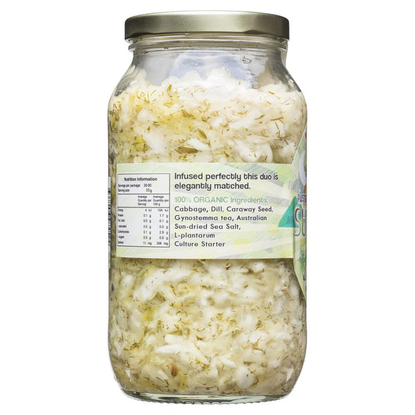 Peace Love & Vegetables Raw Dill Super Kraut 680g , Grocery-Antipasti - HFM, Harris Farm Markets  - 2