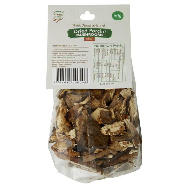 Mushrooms Porcini Dried & Sliced Viking (40g) , Grocery-Antipasti - HFM, Harris Farm Markets  - 2