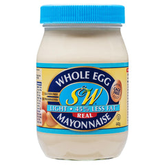 S&W Egg Mayo Light 440g , Grocery-Condiments - HFM, Harris Farm Markets  - 1