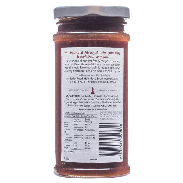 Beerenberg Chutney Fruit 290g , Grocery-Cooking - HFM, Harris Farm Markets  - 2