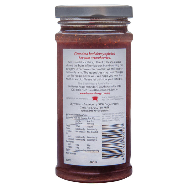 Beerenberg Strawberry Jam 300g , Grocery-Condiments - HFM, Harris Farm Markets  - 2
