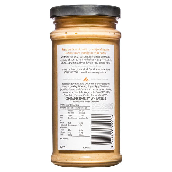 Beerenberg Creamy Seafood Sauce 250g , Grocery-Condiments - HFM, Harris Farm Markets  - 2