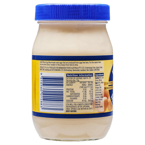 S&W Egg Mayo Original 440g , Grocery-Cooking - HFM, Harris Farm Markets  - 2