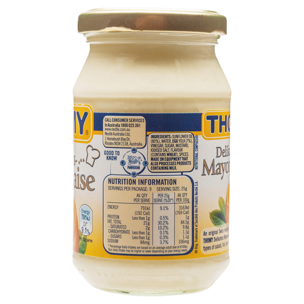 Thomy Mayonnaise 235g , Grocery-Cooking - HFM, Harris Farm Markets  - 3