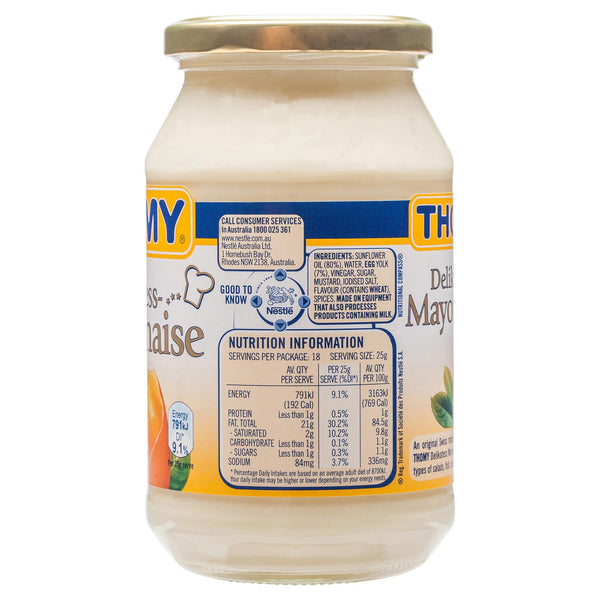 Thomy Mayonnaise 470g , Grocery-Cooking - HFM, Harris Farm Markets  - 2