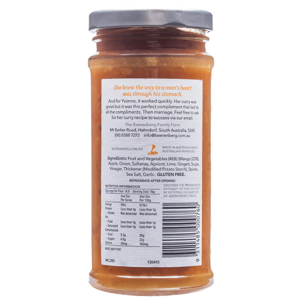 Beerenberg Chutney Mango 280g , Grocery-Cooking - HFM, Harris Farm Markets  - 2