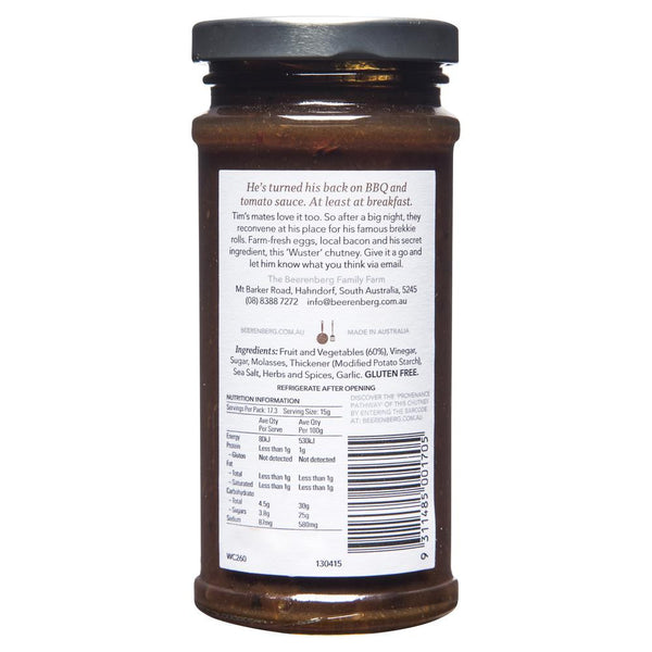 Beerenberg Worcestershire Chutney 260g , Grocery-Condiments - HFM, Harris Farm Markets  - 2