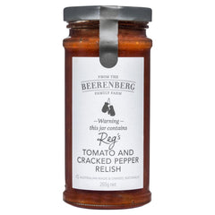 The Beerenberg Family Farm Reg's Tomato and Cracked Pepper Relish 265g , Grocery-Spreads - HFM, Harris Farm Markets  - 1