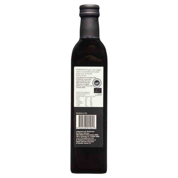 Simon Johnson Organic Vinegar 500ml , Grocery-Oils - HFM, Harris Farm Markets  - 2