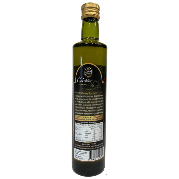 Blu Estate - Extra Virgin Olive Oil - Classic Everyday (500mL)