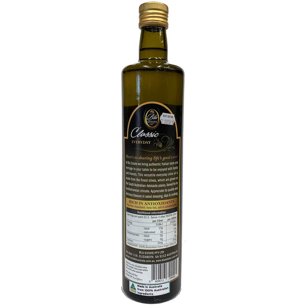 Blu Estate - Extra Virgin Olive Oil - Classic Everyday (750mL)