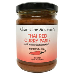 Charmaine Solomons - Curry Paste - Thai Red - Medium Hot (250g)