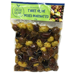 The Greek Olive Marinated Olives Three Olive Mixed 375g