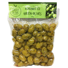 The Greek Olive - Marinated Green Olives (375g)