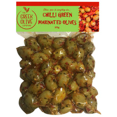 The Greek Olive - Marinated Olives - Chilli Green (375g)