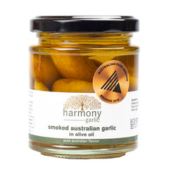 Harmony Garlic - Smoked Australian Garlic - in Olive Oil (175g)