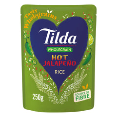 Tilda Wholegrain Rice Hot Jalapeno 250g | Harris Farm Online