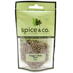 Spice & Co - Pepper White Whole (55g)