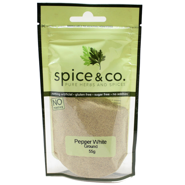 Spice and Co Pepper White Ground 55g