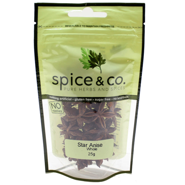 Spice and Co Star Anise Whole 25g