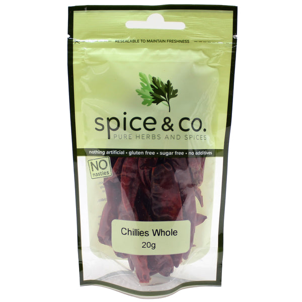 Spice & Co - Chillies Whole (20g)