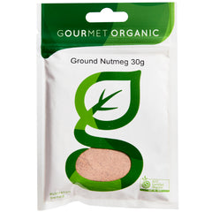 Gourmet Organic Herbs Nutmeg Ground 30g