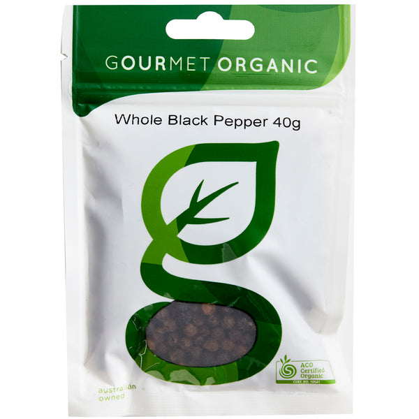 Gourmet Organic Herbs Pepper Black Whole | Harris Farm Online