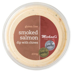 Michaels Fine Foods Smoked Salmon Dip Chives 200g , Frdg1-Antipasti - HFM, Harris Farm Markets  - 1