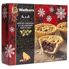 Walkers - Pies Spiced Orange & Cranberry Mince (4 pieces, 200g)