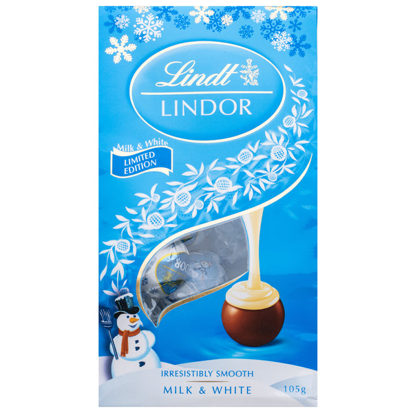 Lindt Lindor Milk and White Chocolate Bag | Harris Farm Online