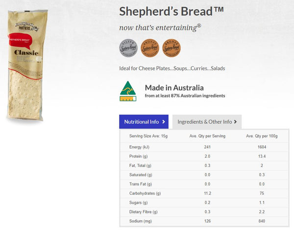 Kurrajong Kitchen - Shepherds Bread - Classic (135g)